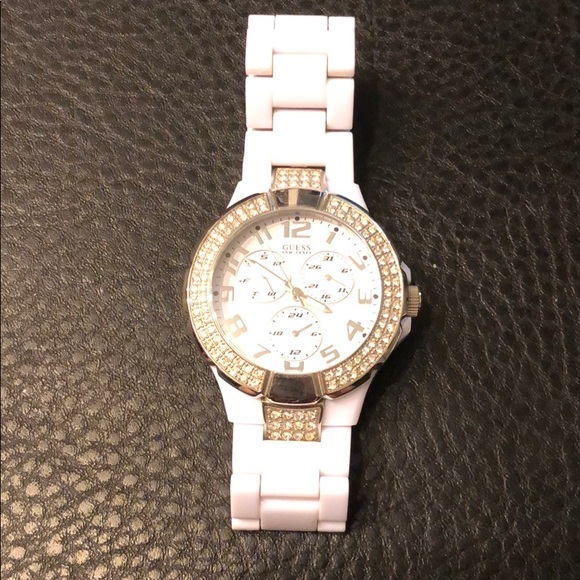 Guess Other - Guess all white watch